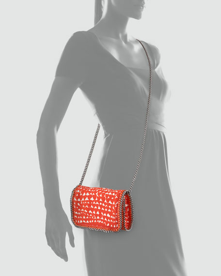 196062f1162 Stella McCartney Falabella Crossbody Clutch Bag, Red