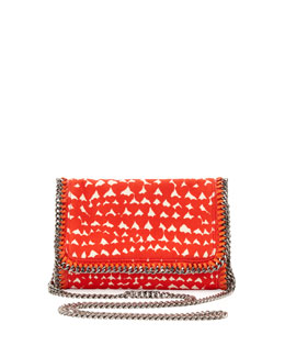 Stella McCartney Falabella Crossbody Clutch Bag, Red