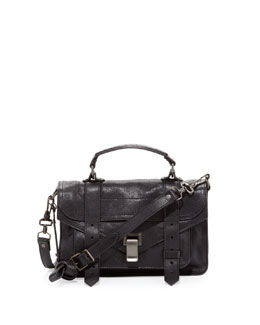 Proenza Schouler PS1 Tiny Mailbag, Black