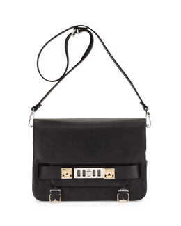 Proenza Schouler PS11 Calfskin Classic Shoulder Bag, Black