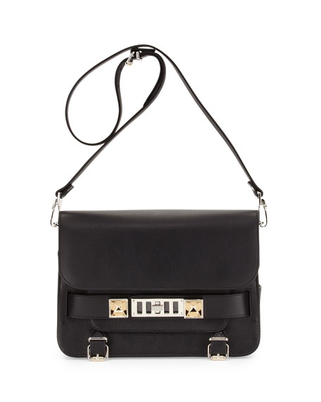 PS11 Calfskin Classic Shoulder Bag, Black