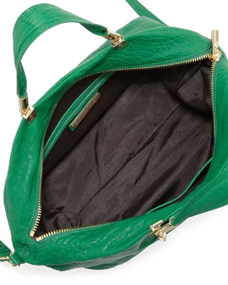 Cynnie Leather Satchel Bag, Green