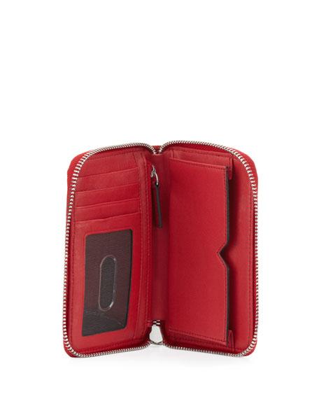 Lizard-Embossed Smart Phone Wristlet, Red Joy