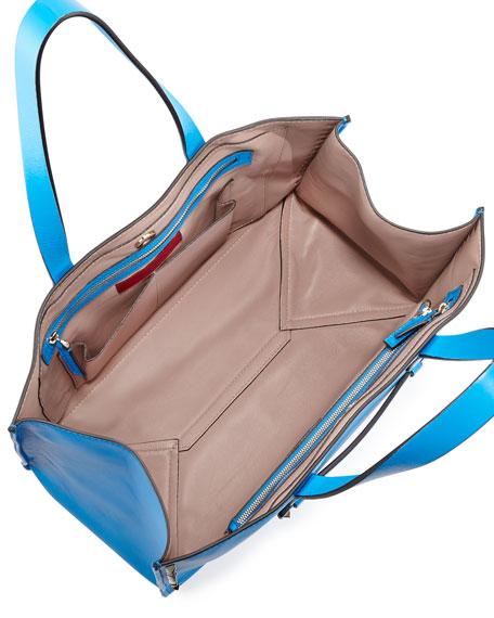 Rockstud Large Soft Tote Bag, Blue Poudre