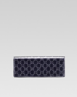 Gucci Broadway Guccissima Evening Clutch Bag, Uniform Blue Navy