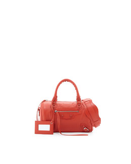 Balenciaga Classic Mini Twiggy Satchel Bag, Rouge