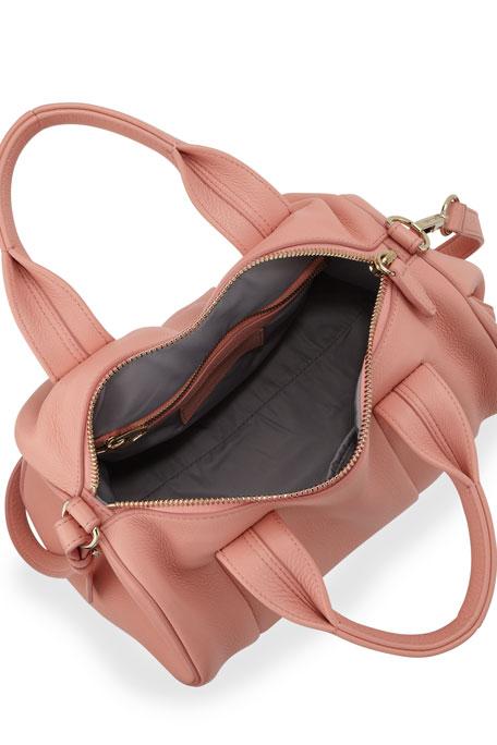 Rocco Stud-Bottom Satchel Bag, Nectar