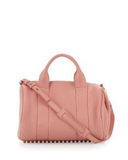Alexander Wang Rocco Stud-Bottom Satchel Bag, Nectar
