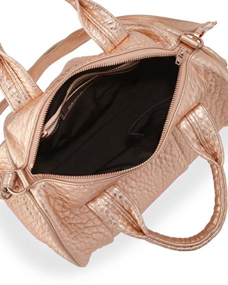 Rocco Stud-Bottom Satchel Bag, Rose Gold