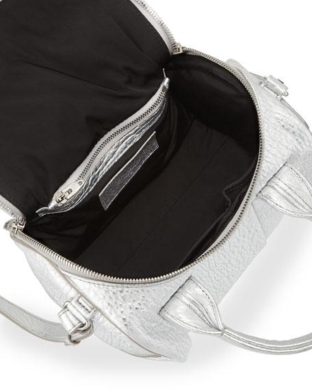 Rockie Crossbody Satchel Bag, Silver