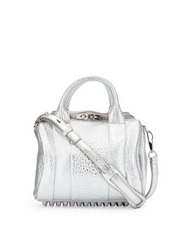 Alexander Wang Rockie Small Crossbody Satchel Bag, Silver