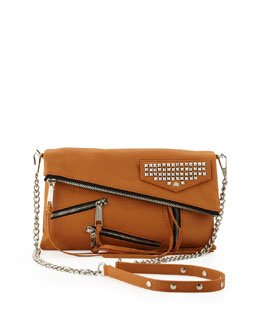 Rebecca Minkoff Harper Multi-Zip Crossbody Bag, Almond