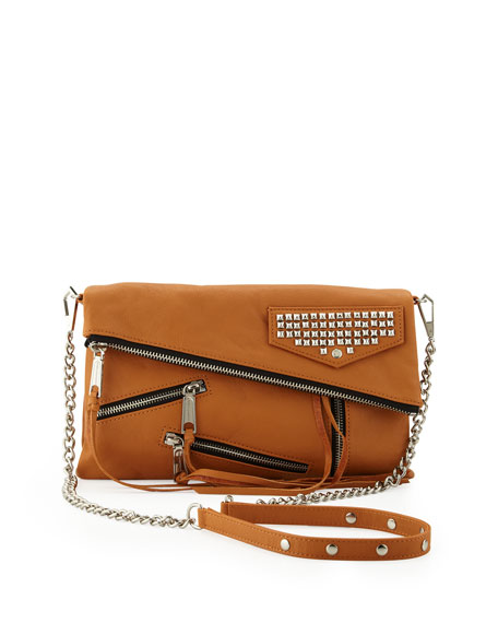 Harper Multi-Zip Crossbody Bag, Almond