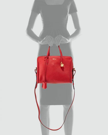 Padlock Zip-Around Tote Bag, Red