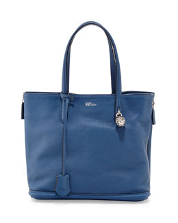 Alexander McQueen New Padlock Small Shopper Bag, Cadet Blue