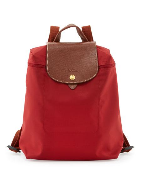 Longchamp Le Pliage Nylon Backpack, Deep Red
