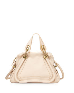 Chloe Paraty Medium Shopper Bag, Husky White