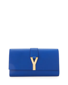 Saint Laurent Classic Y-Line Clutch Bag, Blue