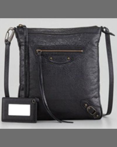 Balenciaga Classic Flat Crossbody Bag, Rose Poudre