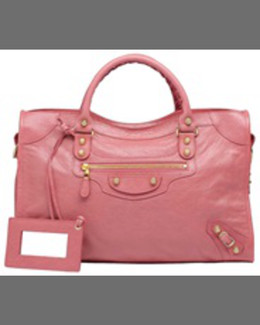 Balenciaga Giant 12 Golden City Bag, Rose Azalea