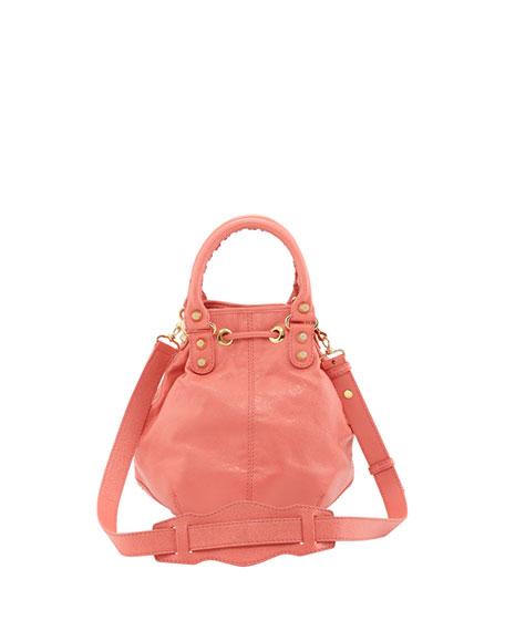Giant 12 Golden Mini Pompon Bag, Rose Azalee