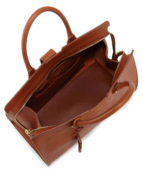 Classic Cabas Y-Ligne Leather Carryall Bag, Tan