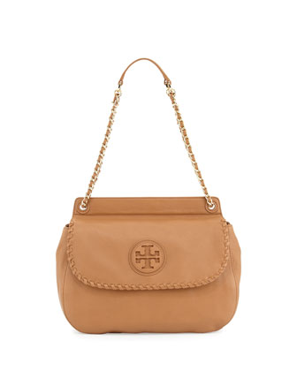 Tory Burch Marion Quilted Leather Backpack Pink