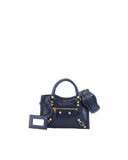Balenciaga Giant 12 Golden City Mini Bag, Bleu Mineral