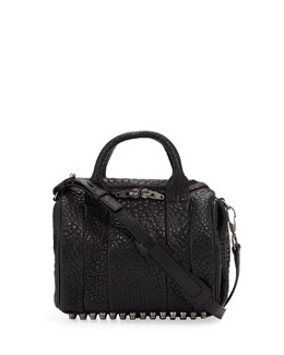 Alexander Wang Rockie Small Crossbody Satchel Bag, Black