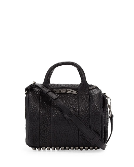 Rockie Crossbody Satchel Bag, Black