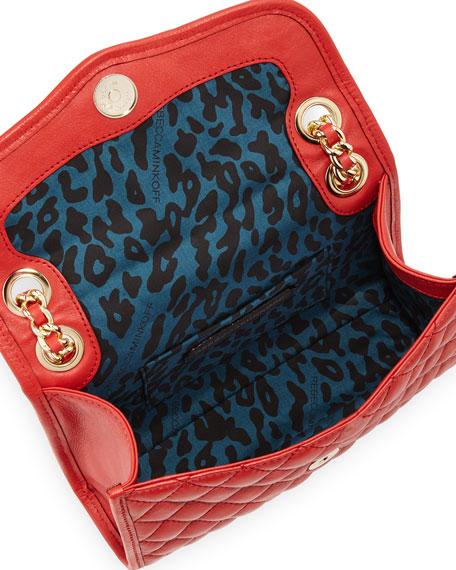 Quilted Affair Studded Mini Shoulder Bag, Scarlet