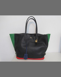 Alexander McQueen Colorblock Small Padlock Zip-Around Tote Bag