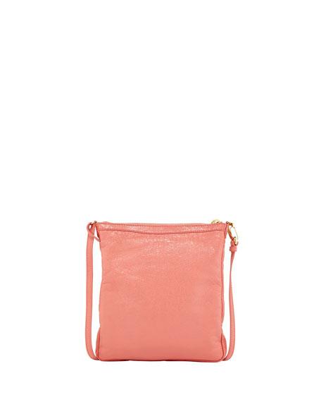 Giant 12 Golden Flat Crossbody Bag, Rose Azalee