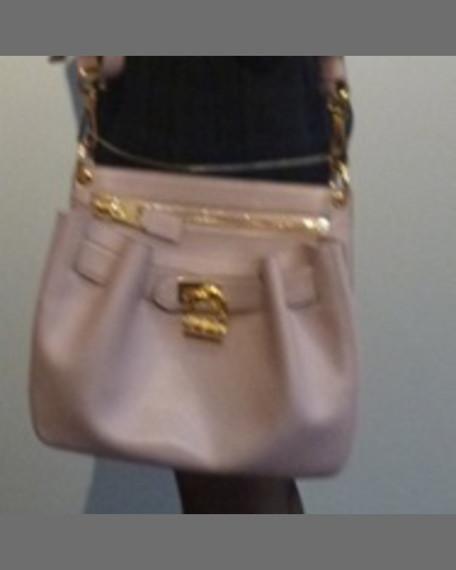 Lock-Front Crossbody Bag, Caramel