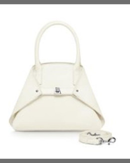 Akris Ai Cervo Extra-Small Messenger Bag, White