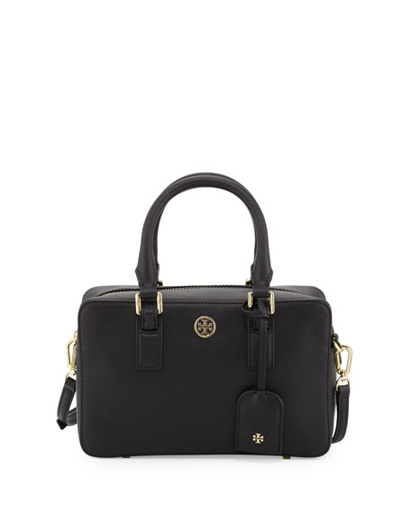Robinson Mini Square Satchel Bag, Black