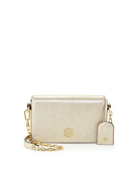 Robinson Mini Chain-Strap Bag, Gold