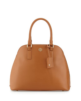 Tory Burch Robinson Open-Top Dome Satchel Bag, Luggage