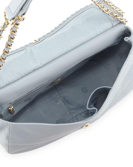 Marion Leather Saddle Bag, Powder Blue
