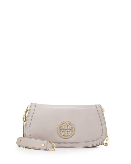 Amanda Logo Clutch Bag, Mercury Gray