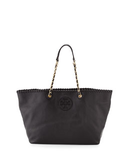 Tory Burch Marion Small East-West Tote Bag, Black