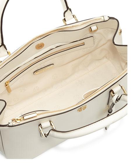 Robinson Mini Double-Zip Tote Bag, Ivory