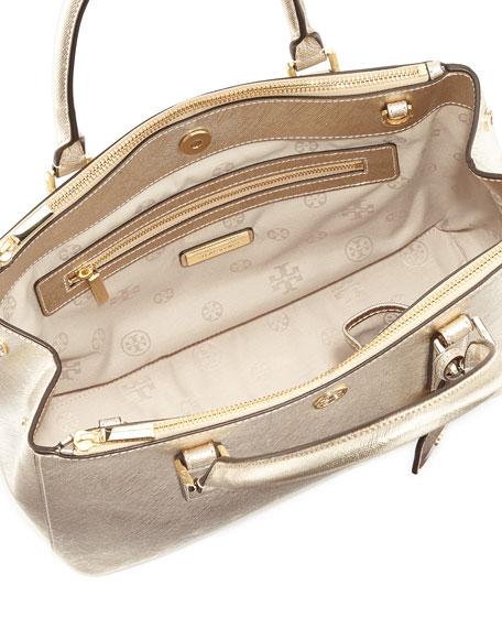 1f9620e1a539 Tory Burch Robinson Metallic Mini Double-Zip Tote Bag