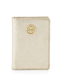 Tory Burch Robinson Transit Pass Holder, Gold