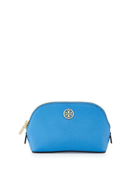 Robinson Saffiano Makeup Bag, Windsor Blue