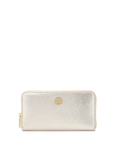 Robinson Continental Zip Wallet, Gold