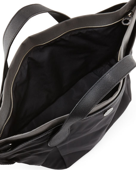 Plentiful Nylon Medium Tote Bag, Black