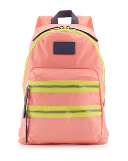 Marc By Marc Jacobs Domo Arigato Packrat Backpack, Fluoro Coral
