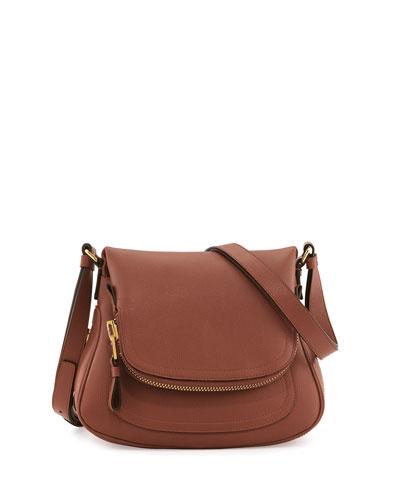 Tom Ford Jennifer Calfskin Crossbody Bag, Pink