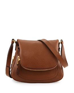 Tom Ford Jennifer Small Calfskin Crossbody Bag, Caramel